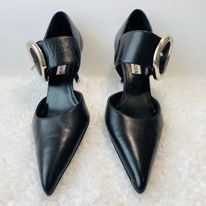 Steve Madden black leather shoes heels size 8